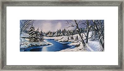 Framed Print featuring the painting Winter's Blanket by Sharon Duguay