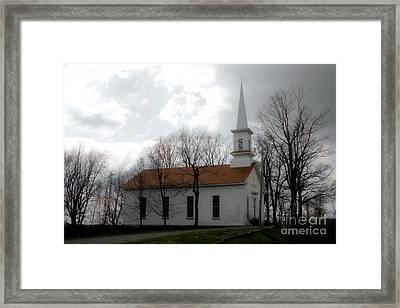 Winter's Church Framed Print