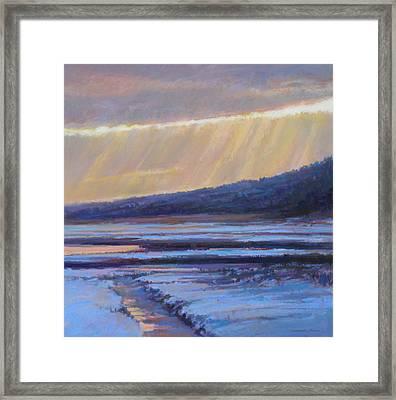 Winter's Dawn Framed Print by Ed Chesnovitch