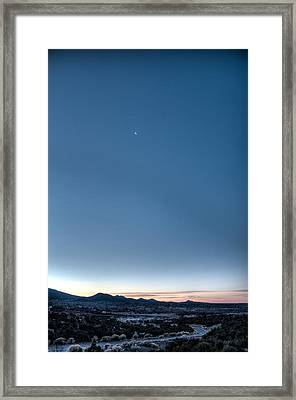 Winter's Dawn Over Santa Fe No.1 Framed Print by Dave Garner