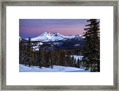 Winter's Dawn Framed Print