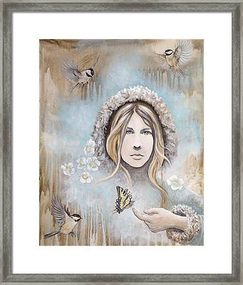 Framed Print featuring the painting Winter's Dream by Sheri Howe