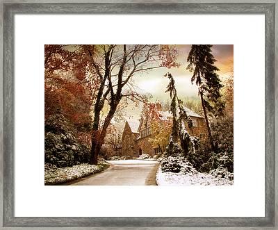 Winter's Entrance Framed Print by Jessica Jenney