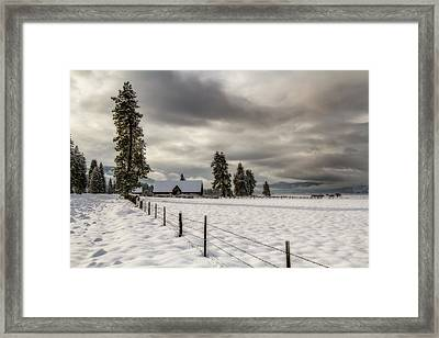 Winters Escape Framed Print