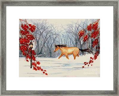 Winter's Eve Framed Print by Janine Riley