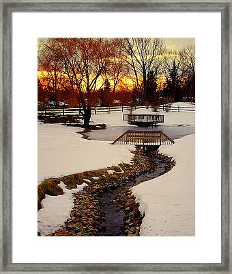 Winters Exit Framed Print