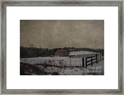 Winter's Farm Framed Print by Terry Rowe