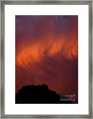 Winter's First Wave Framed Print by Mitch Shindelbower