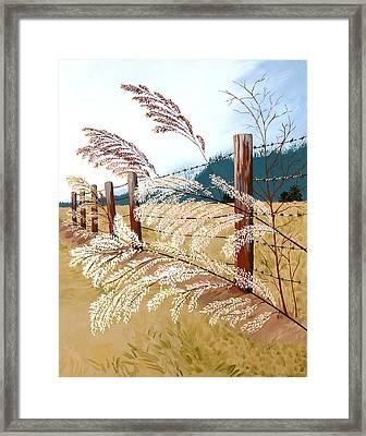 Winter's Flowers Framed Print by Jennifer  Donald