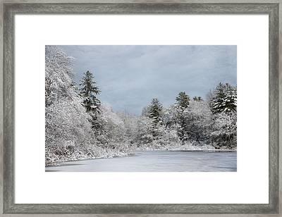 Winter's Frosting Framed Print