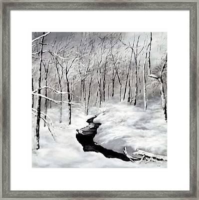 Winters Glory Framed Print by Jennifer  Blenkinsopp