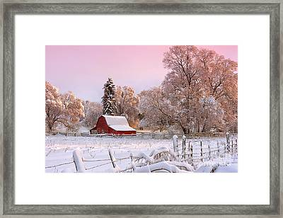 Winters Glow Framed Print