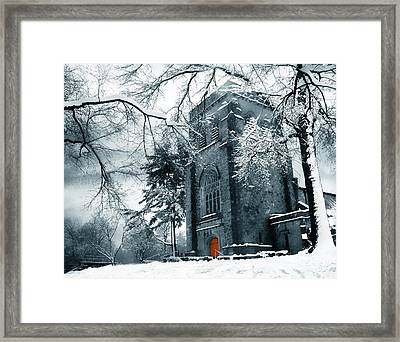 Winter's Gothic Framed Print by Jessica Jenney