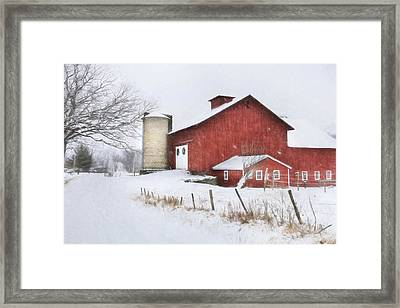 Winter's Grip Framed Print by Lori Deiter