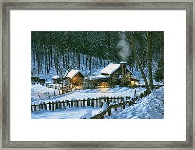 Winter's Haven Framed Print