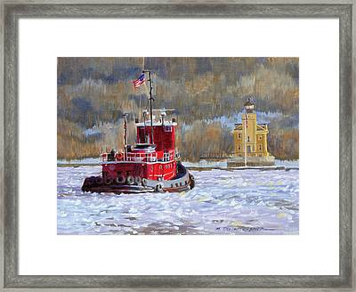 Winter's Ice-olation Framed Print by Marguerite Chadwick-Juner