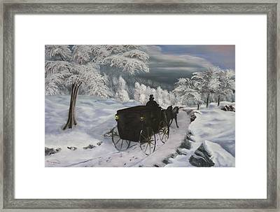 Winters Journey Framed Print by Lou Magoncia