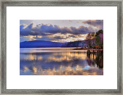 Winters Lake Framed Print by Dave Woodbridge