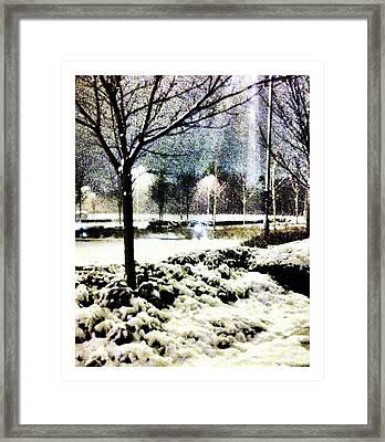 Winters Light Framed Print by Andrew Allsopp
