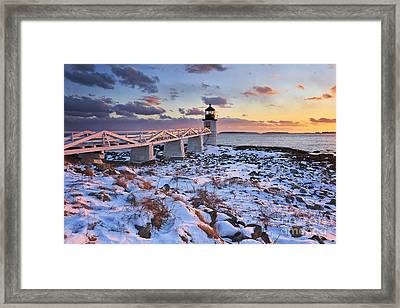 Winter's Light Framed Print by Katherine Gendreau