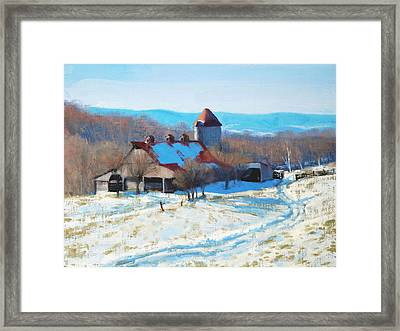 Winter's Mantle Framed Print