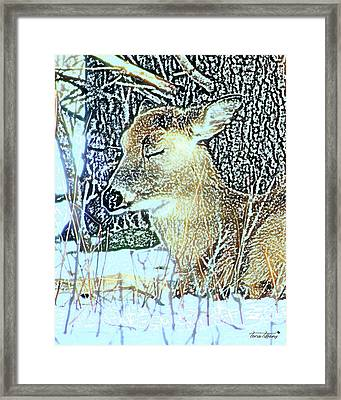 Winter's Nap Framed Print by Torie Tiffany
