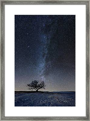 Winter's Night Framed Print by Aaron J Groen