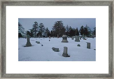 Winters Rest Framed Print