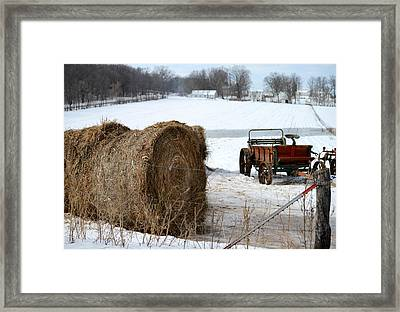 Framed Print featuring the photograph Winter's Rest by Linda Mishler