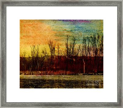 Winter's Shore Framed Print by R Kyllo