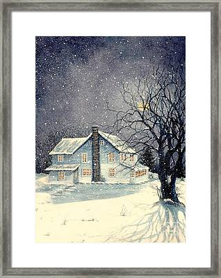 Winter's Silent Night Framed Print by Janine Riley