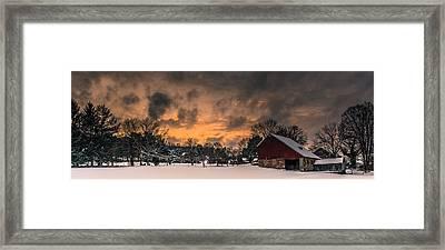 Winter's Sky Framed Print by Scott Hafer