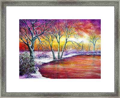 Winter's Song Framed Print by Ann Marie Bone