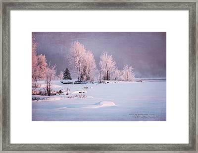 Winter's Splendor #3 - Pastels Framed Print by Dustin Abbott