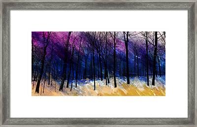 Winter's Struggle Framed Print by R Kyllo