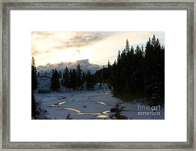 Winter's Sunrise Framed Print by Birches Photography