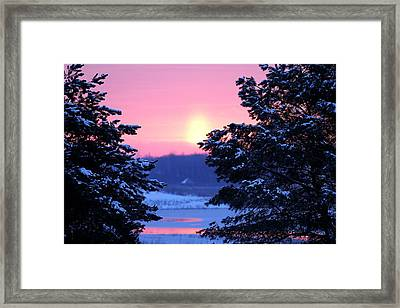 Framed Print featuring the photograph Winter's Sunrise by Elizabeth Winter