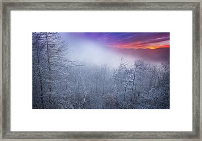 Winter's Sunrise Framed Print