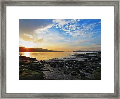 Winters Sunset Framed Print