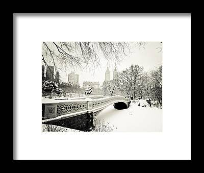 Winter Landscape Framed Prints