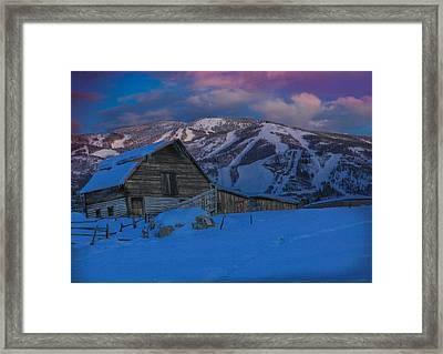 Winter's Touch Framed Print