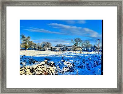 Winters View Framed Print by Dave Woodbridge