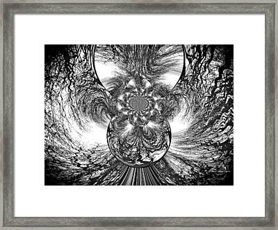 Winter's Vortex Framed Print by Absinthe Art By Michelle LeAnn Scott