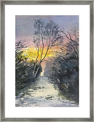 Winters Walk Framed Print