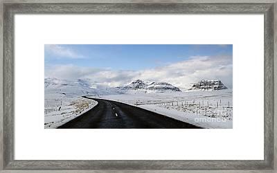 Winter's Way Framed Print by Evelina Kremsdorf