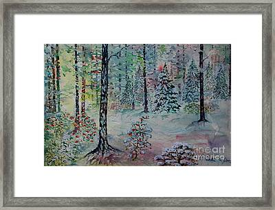 Framed Print featuring the painting Winters Wonderland by Alfred Motzer