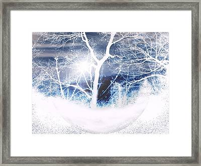 Winterscape Framed Print by Roxy Riou