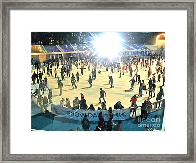 Wintertime In Bryant Park Framed Print by Beth Saffer