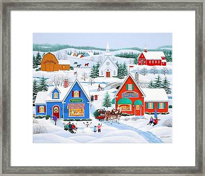 Wintertime In Sugarcreek Framed Print