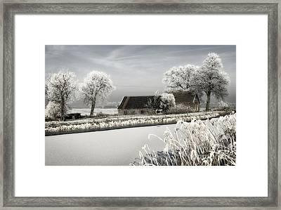 Framed Print featuring the photograph Winterwonderland by Michel Verhoef